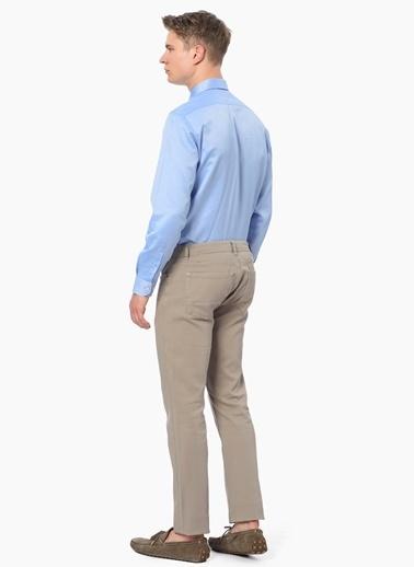 George Hogg Slim Fit Uzun Kollu Klasik Gömlek Mavi